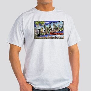 Fresno California Greetings (Front) Ash Grey T-Shi