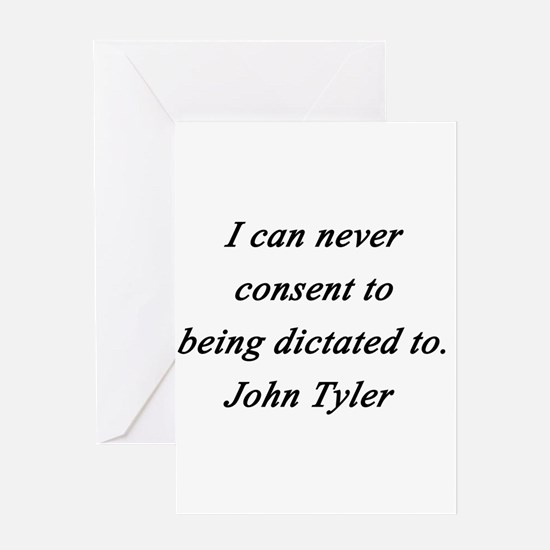 Tyler - Never Consent Greeting Card