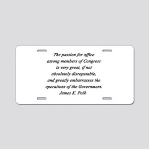 Polk - Passion for Office Aluminum License Plate
