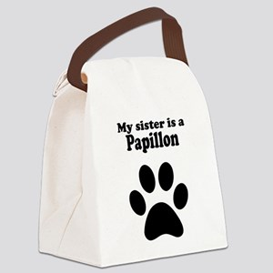 My Sister Is A Papillon Canvas Lunch Bag