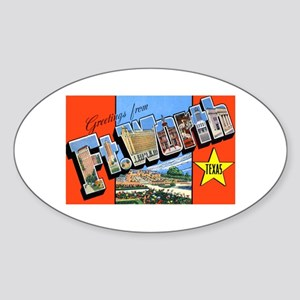 Fort Worth Texas Greetings Oval Sticker