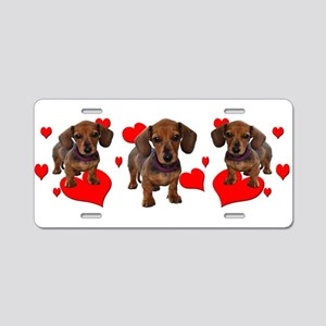 Dachshund Dachsie Puppies Aluminum License Plate