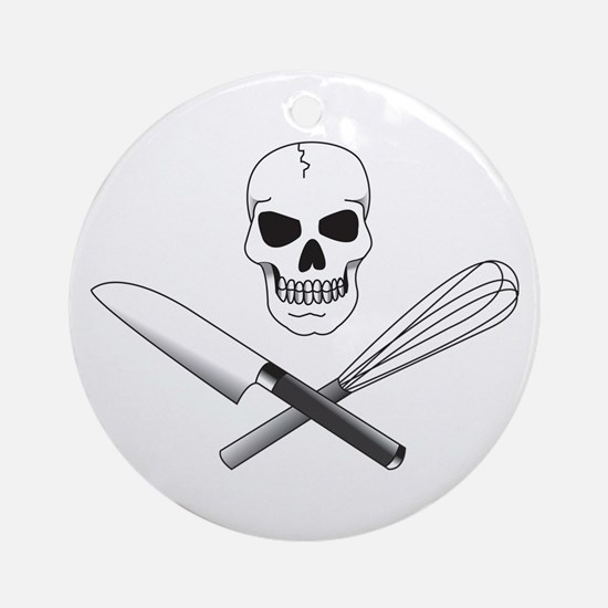 Skull Cook Ornament (Round)