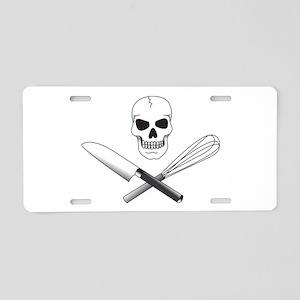 Skull Cook Aluminum License Plate