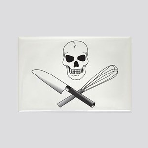 Skull Cook Rectangle Magnet