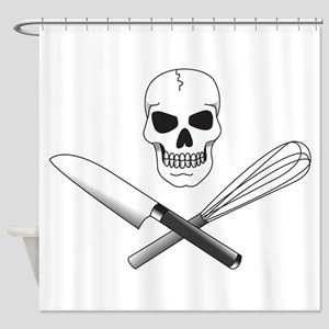 Skull Cook Shower Curtain