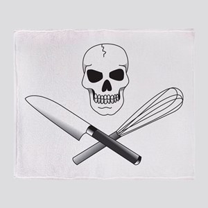 Skull Cook Throw Blanket