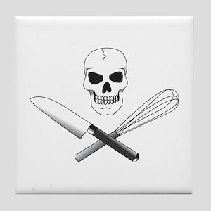 Skull Cook Tile Coaster