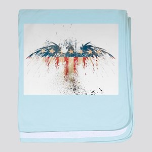 The Freedom Eagle, Full Color baby blanket