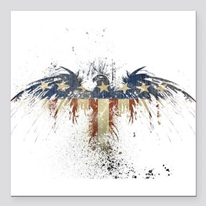 """The Freedom Eagle, Full Color Square Car Magnet 3"""""""