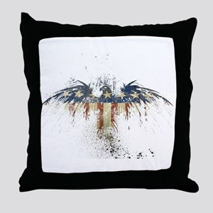 The Freedom Eagle, Full Color Throw Pillow