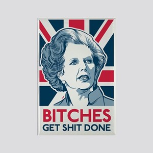 Margaret Thatcher Bitches Rectangle Magnet