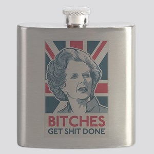 Margaret Thatcher Bitches Flask