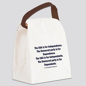 Independant or Dependant Canvas Lunch Bag