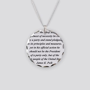 Polk - Chief Magistrate Necklace Circle Charm