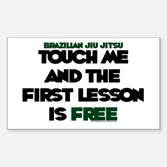 Touch me & the 1st lesson is free Bumper Stickers