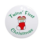 Twins First Stocking Ornament (Round)