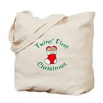 Twins First Stocking Tote Bag