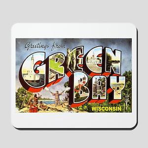 Green Bay Wisconsin Greetings Mousepad