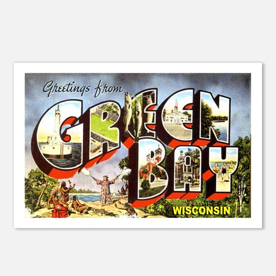 Green Bay Wisconsin Greetings Postcards (Package o