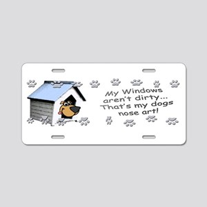 Funny Dog Nose Art Aluminum License Plate
