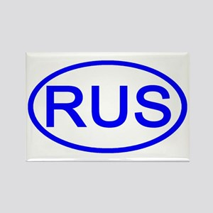 Russia - RUS Oval Rectangle Magnet