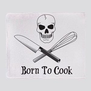 Born To Cook Throw Blanket