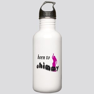born to shimmy pink Water Bottle