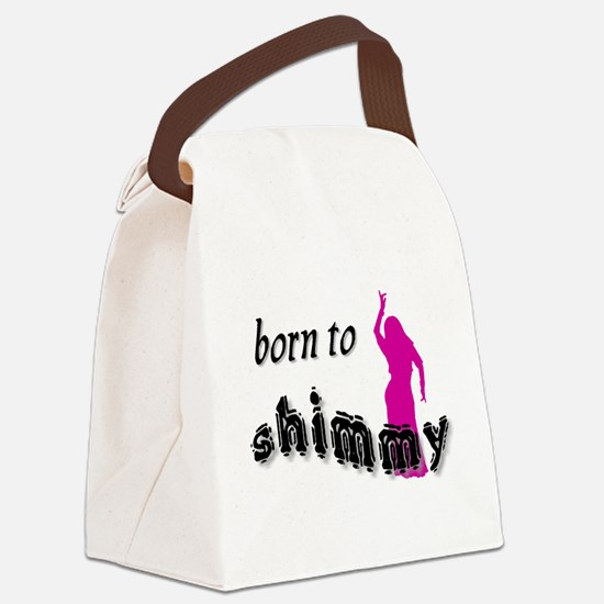 born to shimmy pink.png Canvas Lunch Bag