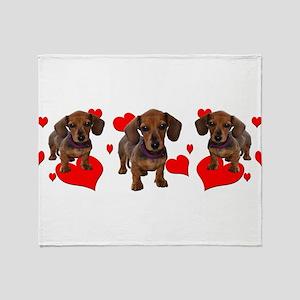Dachshund Dachsie Puppies Throw Blanket