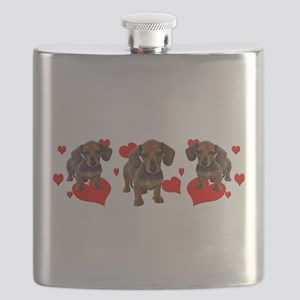 Dachshund Dachsie Puppies Flask