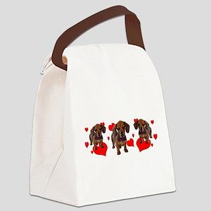 Dachshund Dachsie Puppies Canvas Lunch Bag