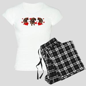 Dachshund Dachsie Puppies Women's Light Pajamas