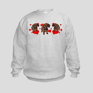 Dachshund Dachsie Puppies Kids Sweatshirt