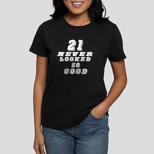 21 Birthday Designs Women's Dark T-Shirt