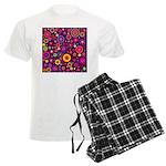 Hippie Purple Rainbow Flowers Pajamas