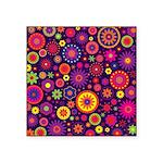 Hippie Purple Rainbow Flowers Sticker