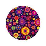 Hippie Purple Rainbow Flowers 3.5