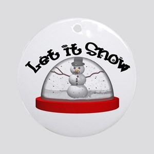 Let it Snow! Ornament (Round)