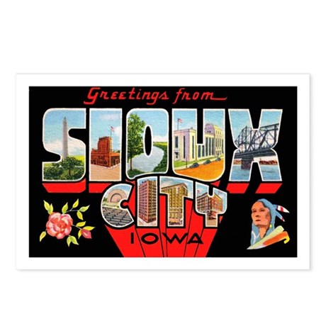 Sioux City Iowa Greetings Postcards (Package of 8)