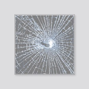 Broken Glass 2 Gray Sticker