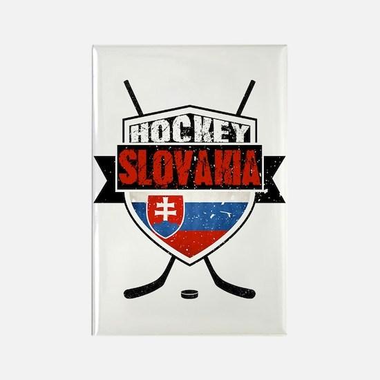 Hokej Slovensko Hockey Shield Rectangle Magnet