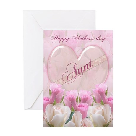 aunt mother s day card with pink roses by moonlakedesigns