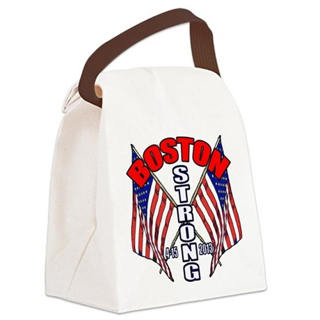 Boston Strong 4 15 Canvas Lunch Bag