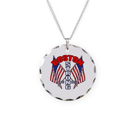 Boston Strong 4 15 Necklace Circle Charm