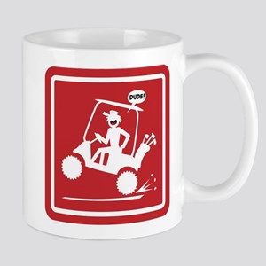 Golf Cart Wheelie Warning Signs Mug
