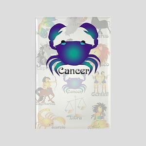 Whimsical Cancer Rectangle Magnet