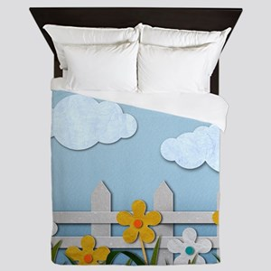 Picket Fence Queen Duvet