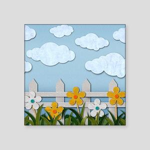 Picket Fence Square Sticker 3 x 3