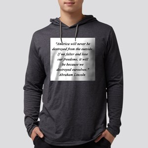 Lincoln - Never Destroyed Mens Hooded Shirt